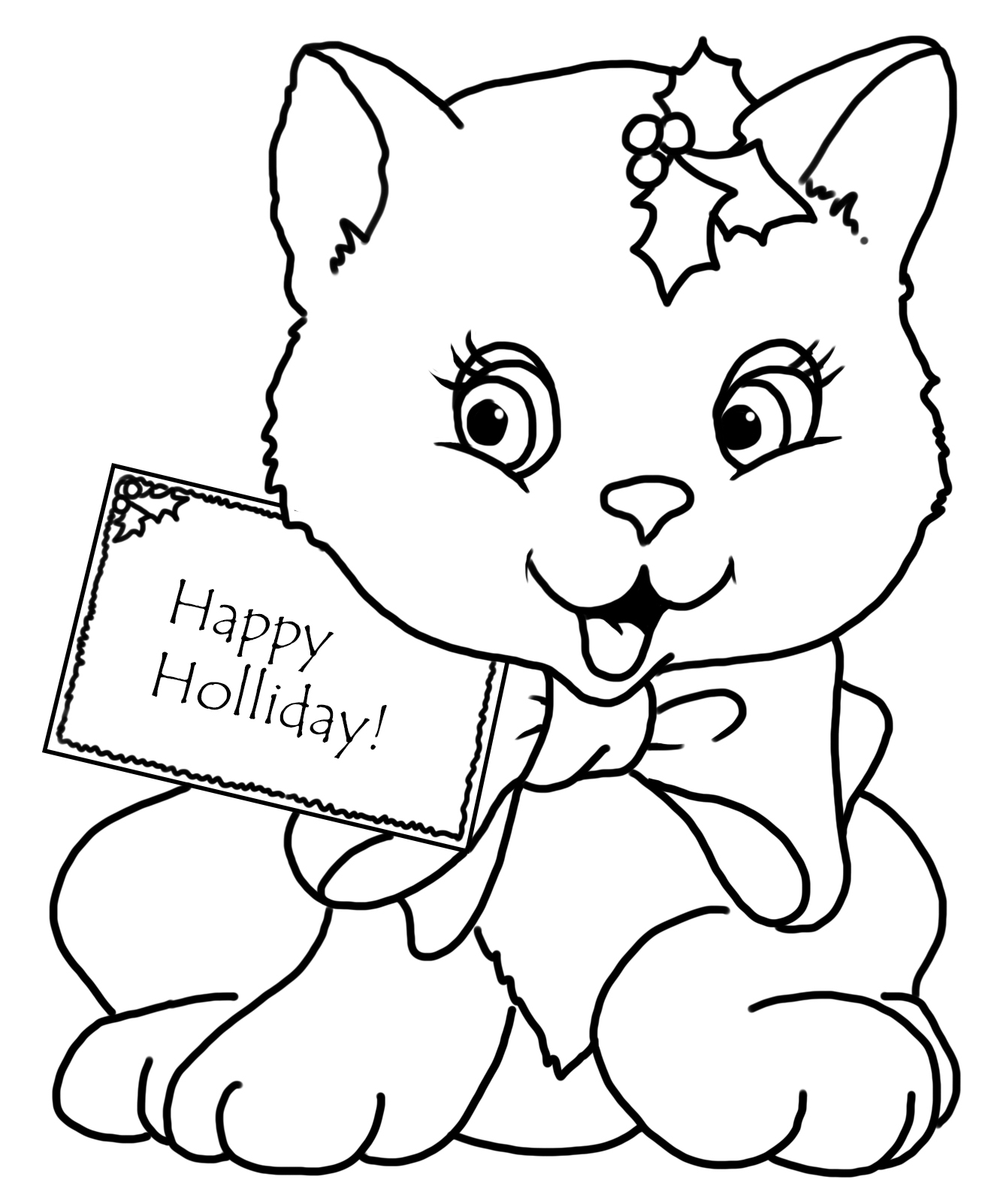 cat christmas coloring pages free s christmas cat in stocking8a58 coloring pages printable christmas cat pages coloring