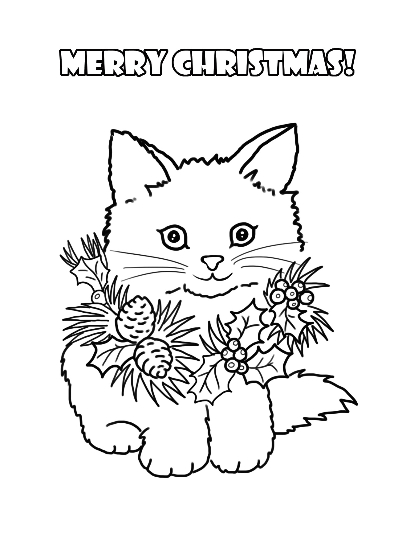 cat christmas coloring pages print download the benefit of cat coloring pages christmas cat coloring pages