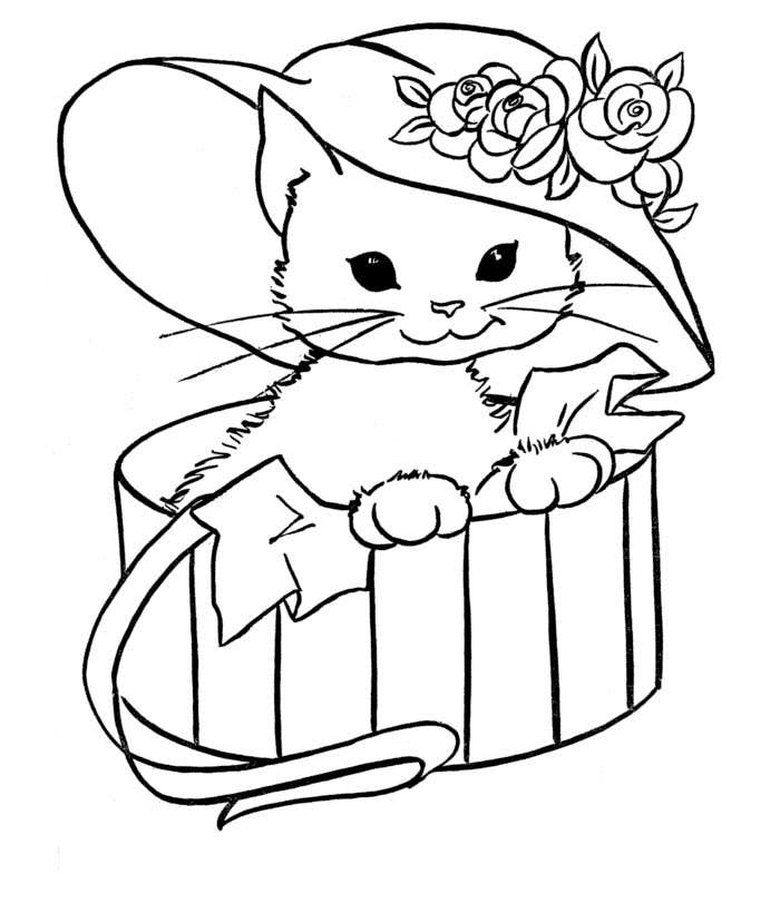 cat printable cute cat coloring pages to download and print for free printable cat