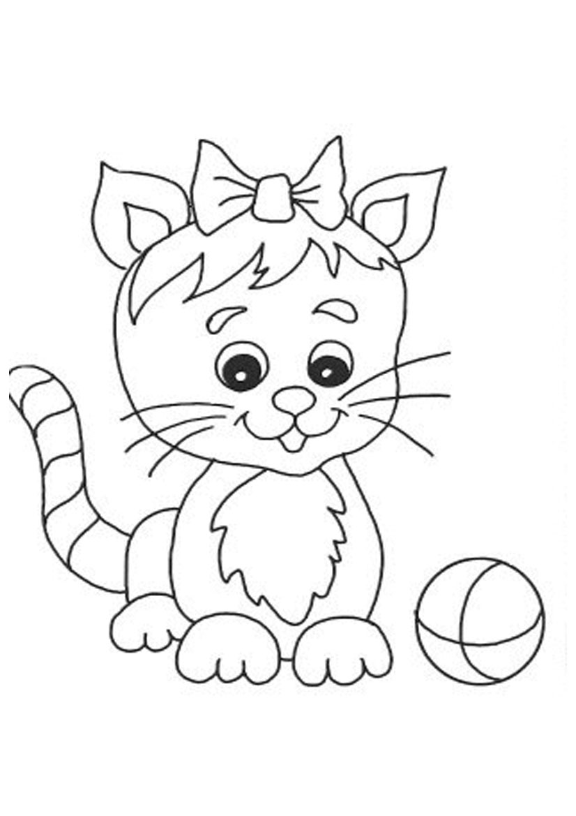 cat to color cat for kids simple drawing cats kids coloring pages cat to color