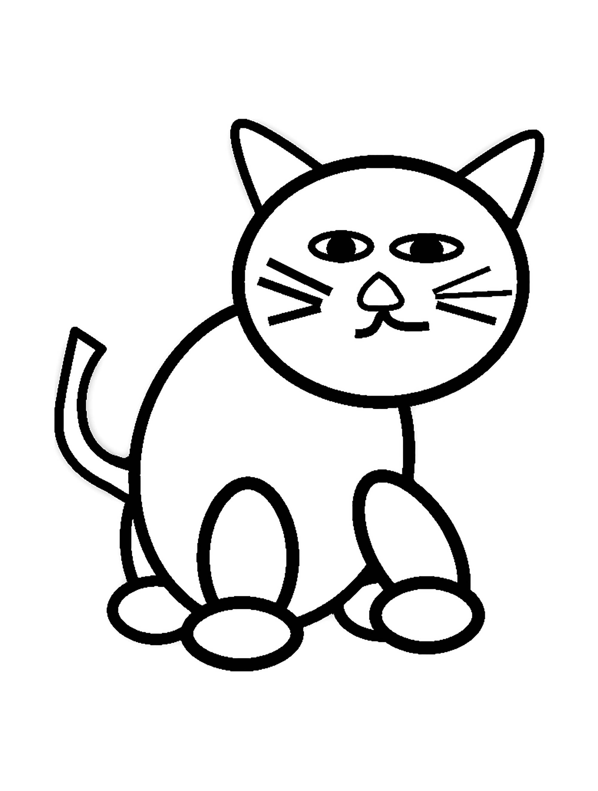 cat to color free printable cat coloring pages for kids cat color to