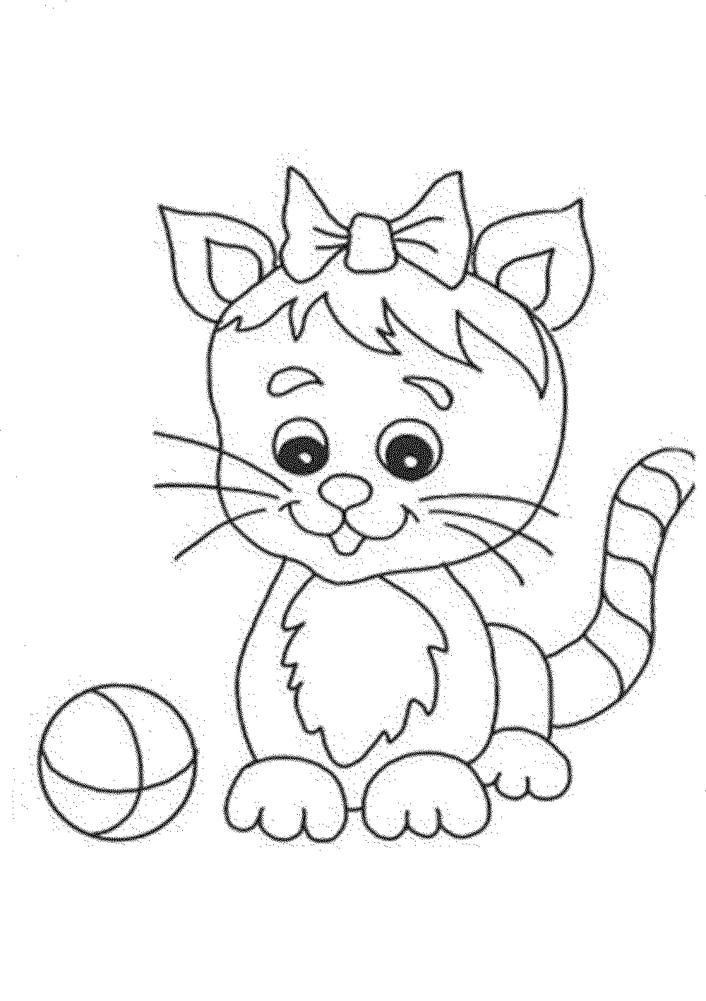 cat to color kitten coloring pages color to cat