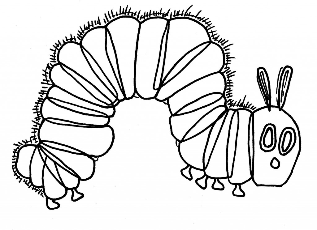 caterpillar for coloring very hungry caterpillar coloring pages to download and coloring caterpillar for