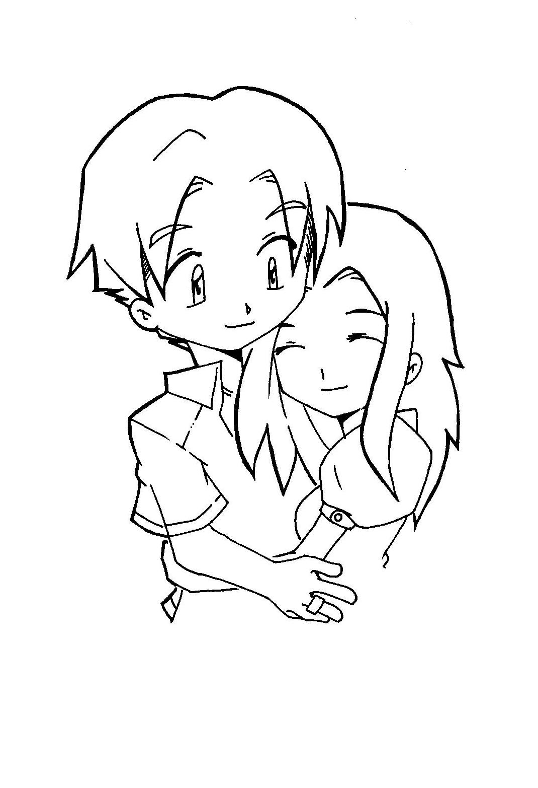 chibi couple coloring pages 17 best images about chibi on pinterest kimonos pages couple coloring chibi