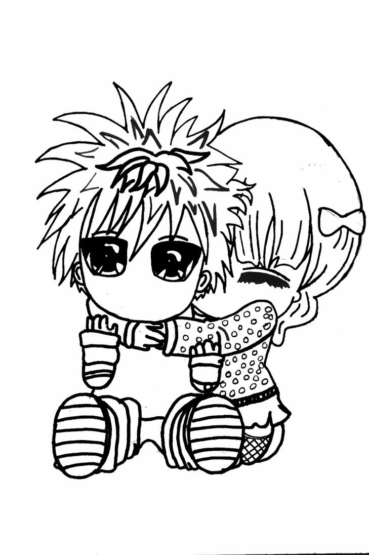 chibi couple coloring pages chibi couple commission sketch by yampuff on deviantart pages chibi couple coloring