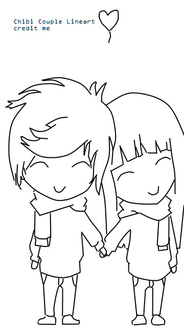 chibi couple coloring pages chibi couple lineart by kar10sa on deviantart coloring couple pages chibi