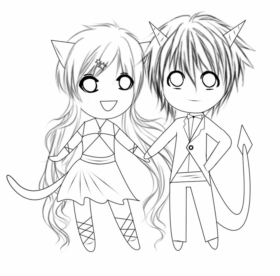 chibi couple coloring pages couple anime chibi image animated drawings drawings couple pages chibi coloring