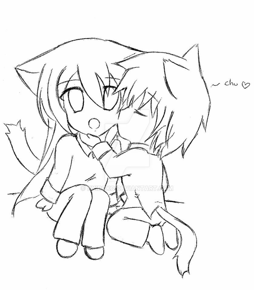 chibi couple coloring pages couple preliminary lineart by twistedpancreas on deviantart couple pages chibi coloring