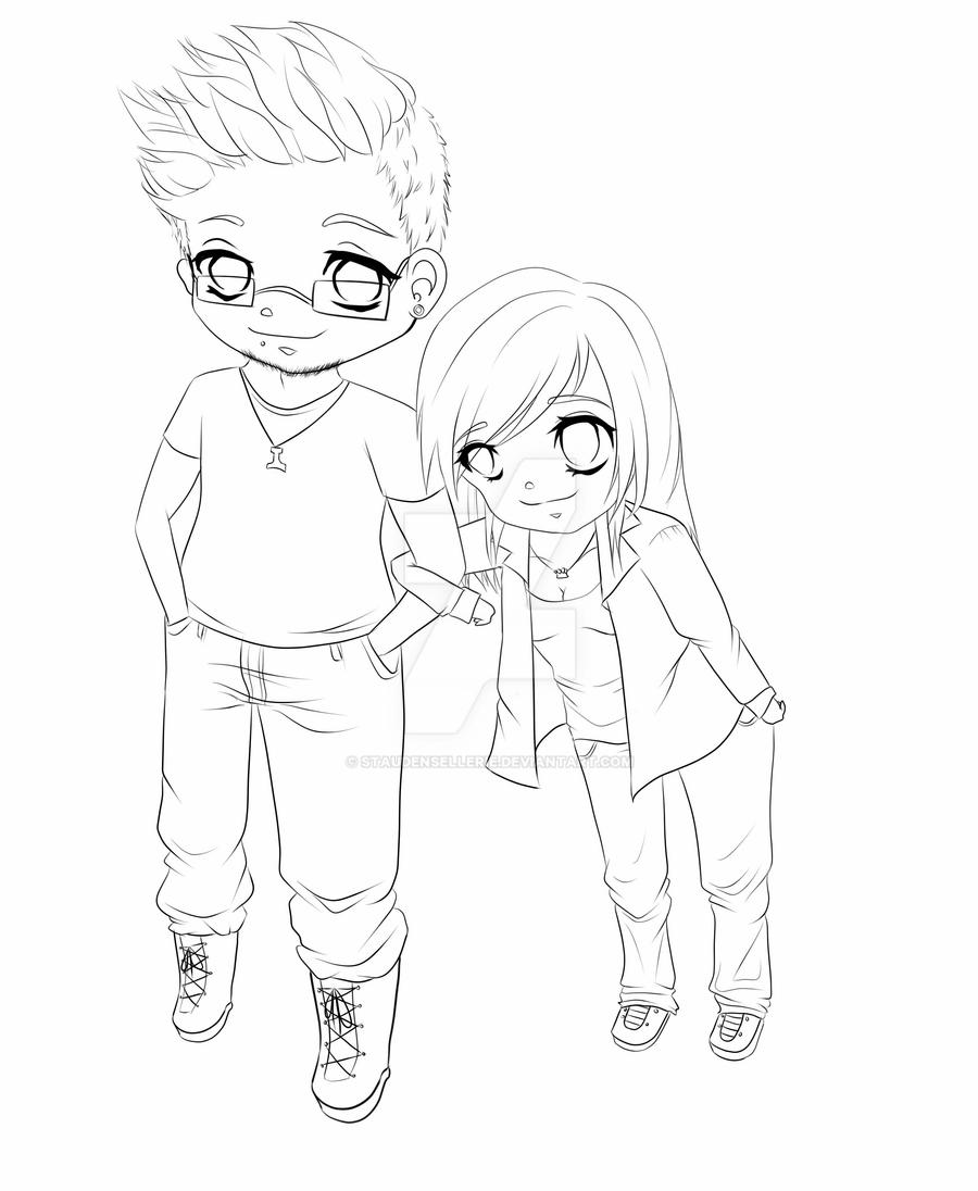 chibi couple coloring pages cute chibi couple drawing at getdrawings free download pages coloring chibi couple