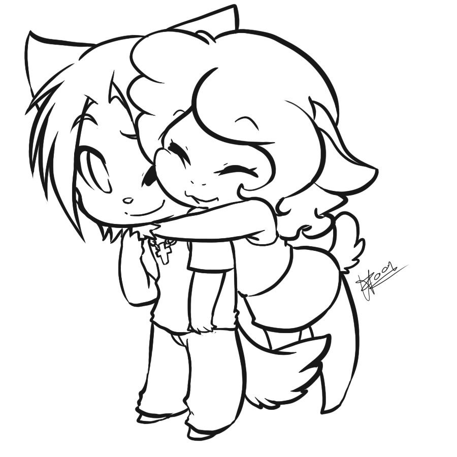 chibi couple coloring pages cute chibi couple outlined by x xanimenerdx x on deviantart chibi pages coloring couple