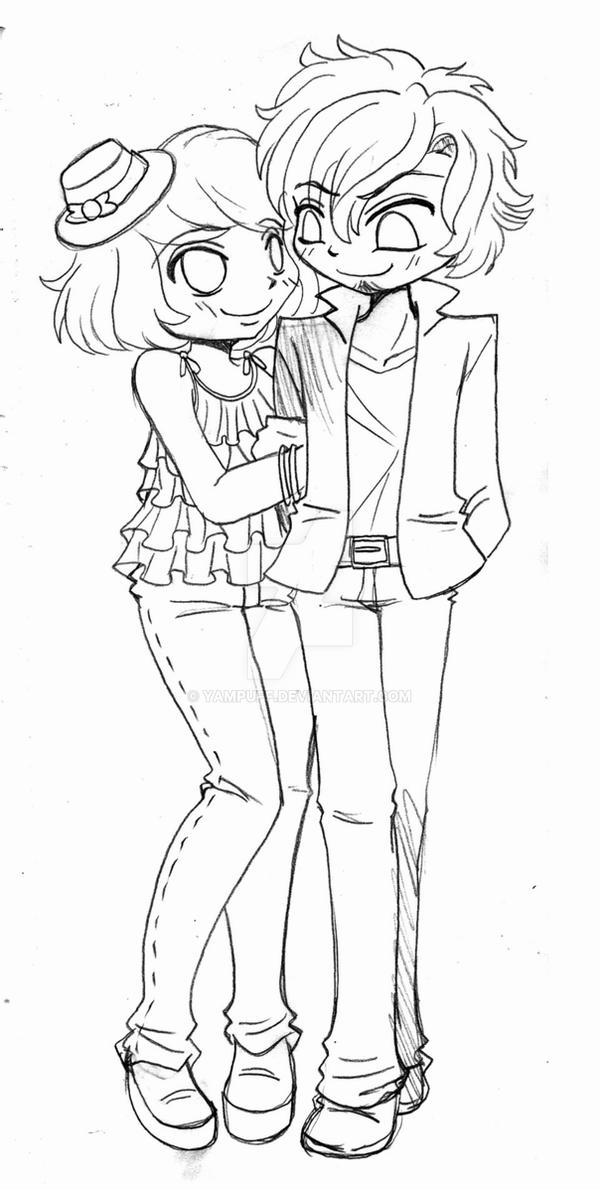 chibi couple coloring pages easy chibi couple coloring pages couple coloring chibi pages