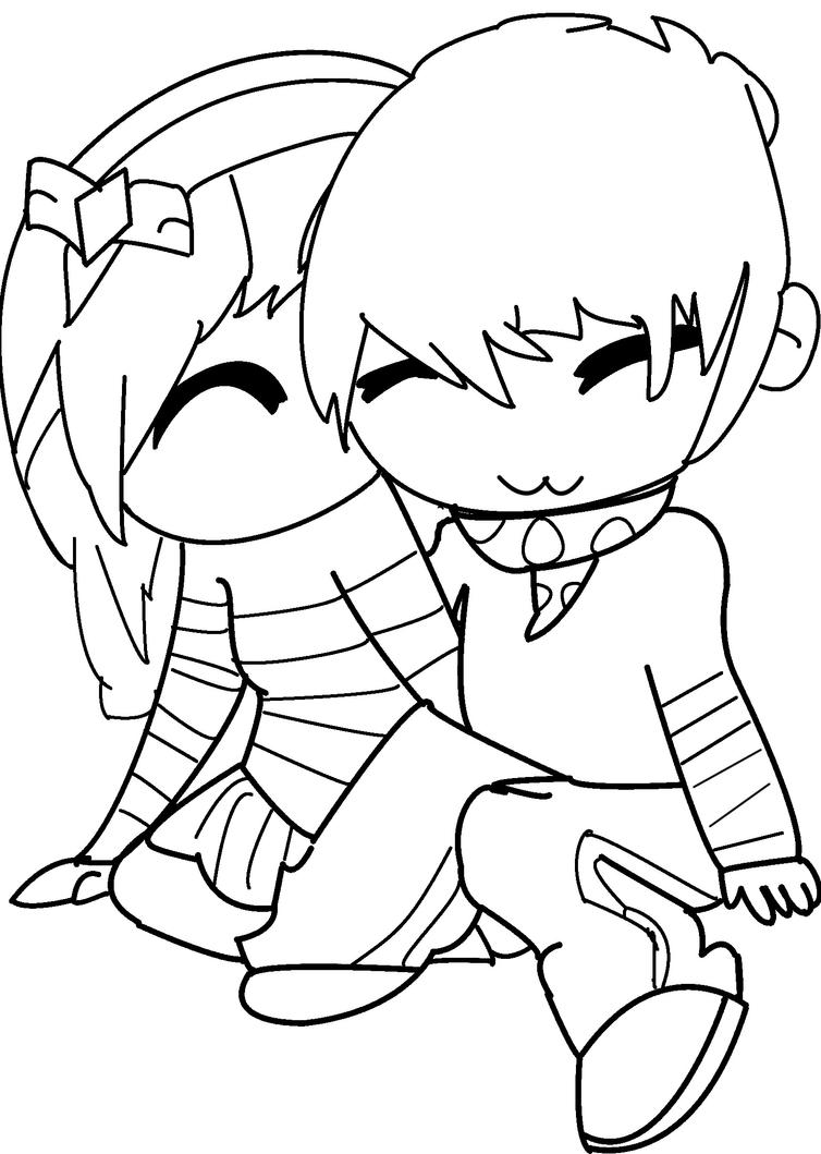 chibi couple coloring pages lineart chibi couple 2 by rueyumi on deviantart coloring chibi couple pages