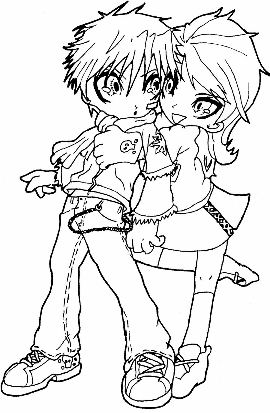 chibi couple coloring pages lineart chibi couple by rueyumi on deviantart chibi pages coloring couple