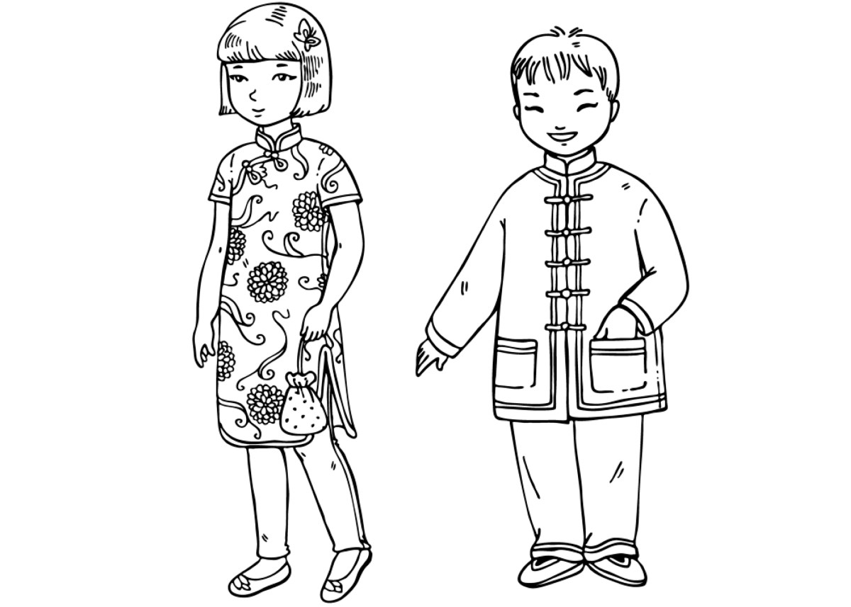 chinese coloring coloring page chinese children chinese coloring