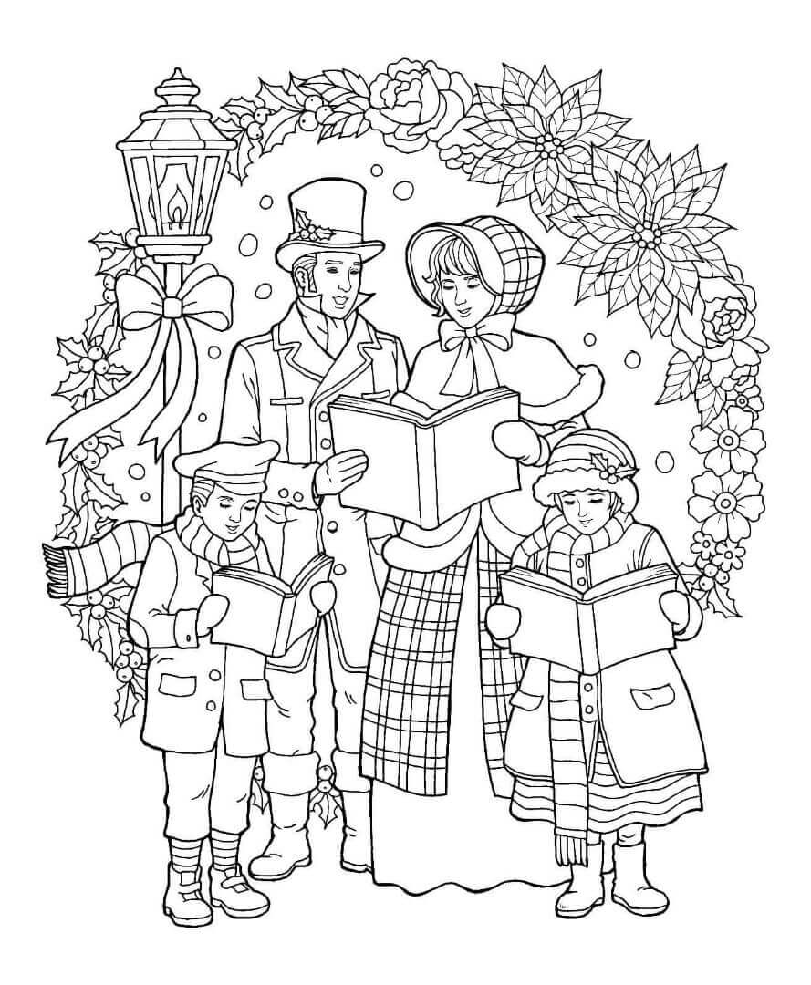 christmas color pages free get this adult christmas coloring pages free winter night christmas pages color free