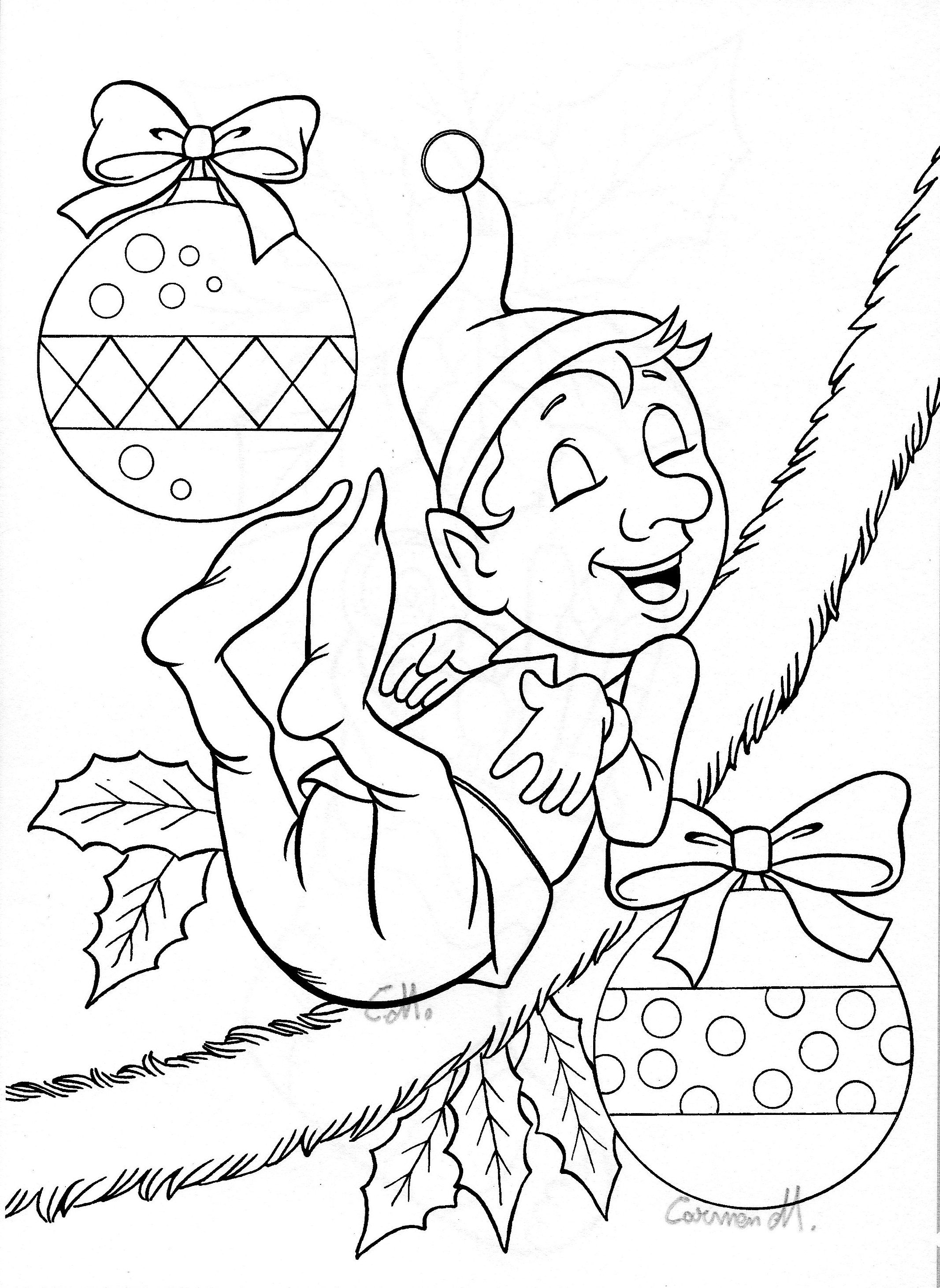 christmas coloring elf coloring pages christmas elf coloring pages free and christmas coloring elf