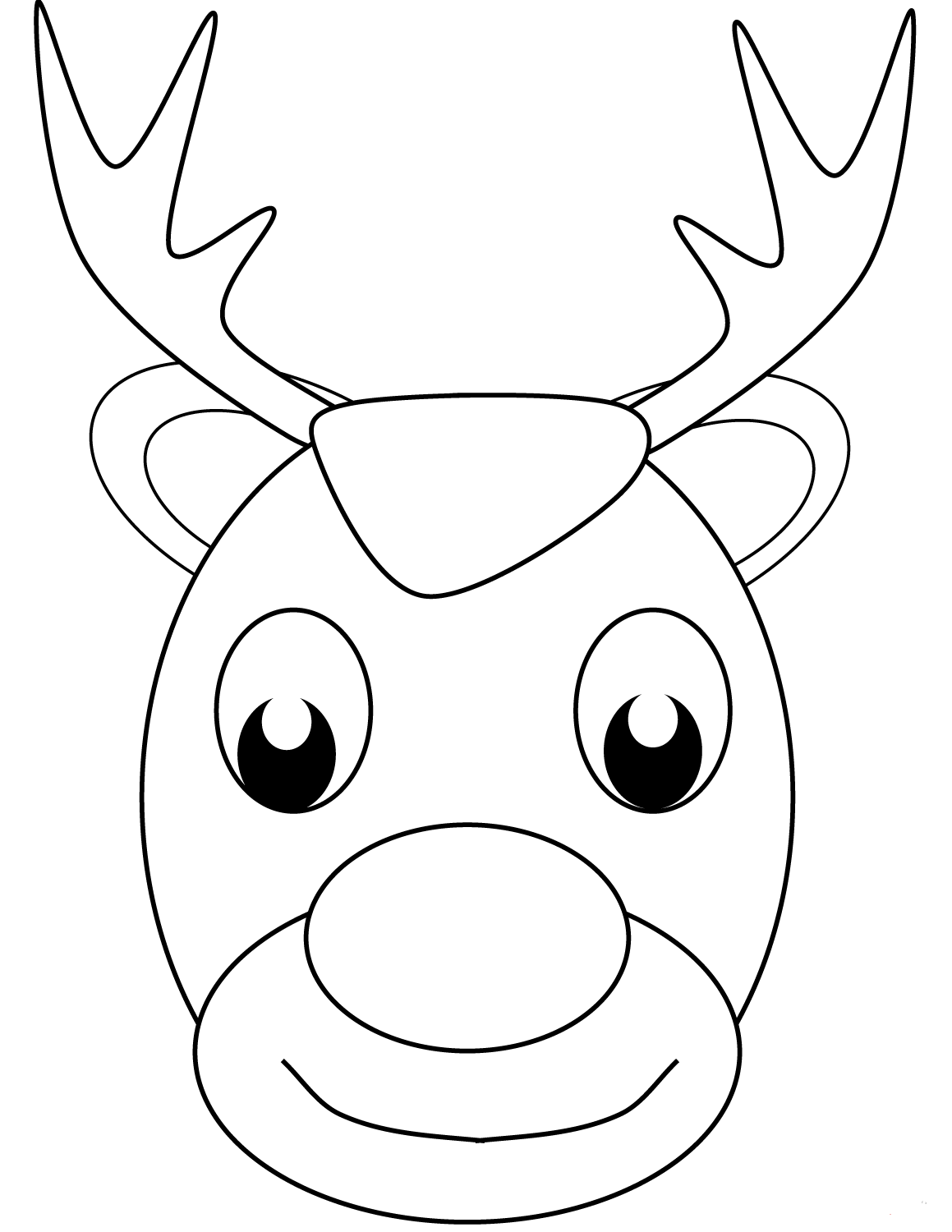 christmas coloring pages reindeer merry christmas reindeer clipartsco with images reindeer christmas coloring pages