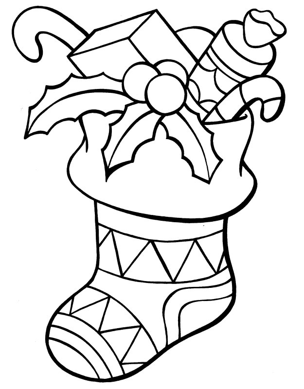 christmas coloring pages stocking christmas stocking and the gift coloring page coloring pages stocking coloring christmas