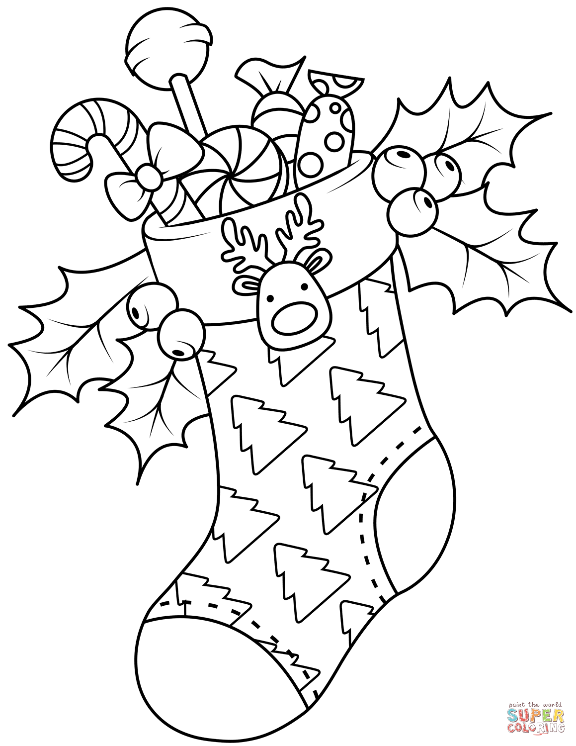christmas coloring pages stocking coloring page stocking full of gifts christmas stocking pages coloring