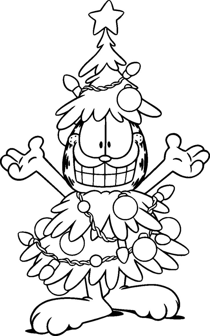 christmas pictures to color free garfield the cat coloring pages for kids pictures color to christmas