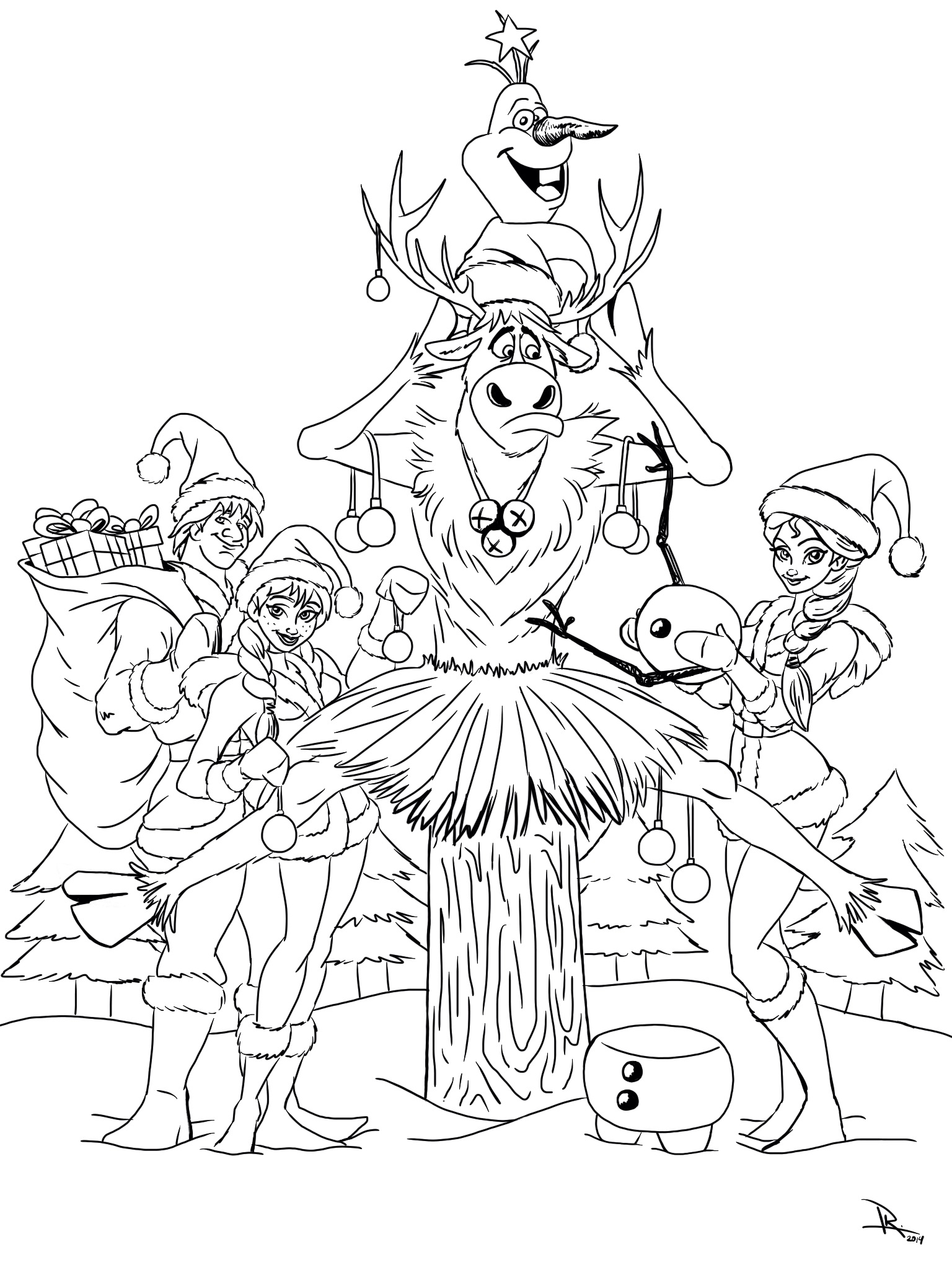 christmas pictures to color frozen christmas coloring page kristen hewitt pictures to color christmas