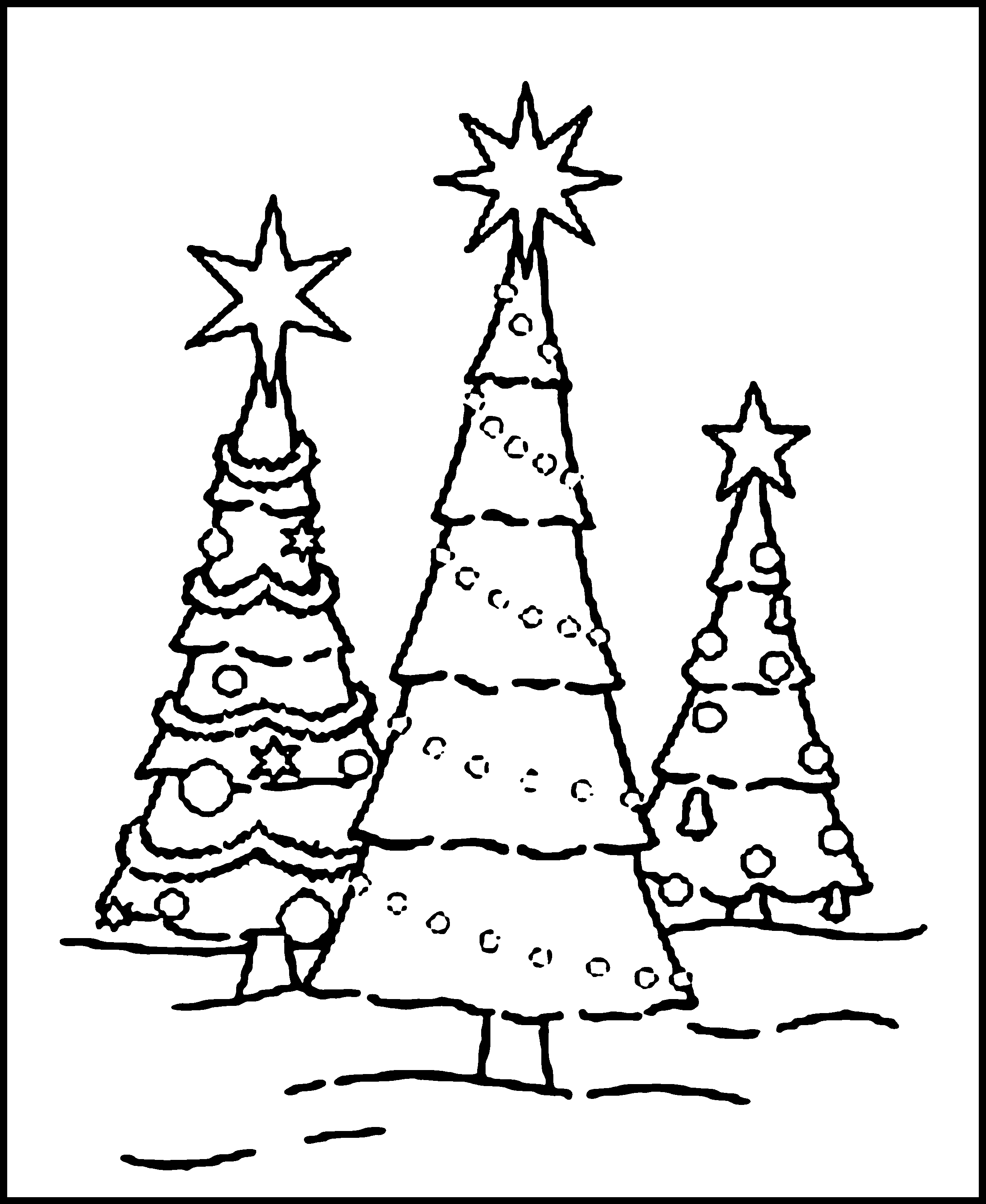 christmas tree coloring pictures christmas decorated christmas tree coloring page tree christmas coloring pictures