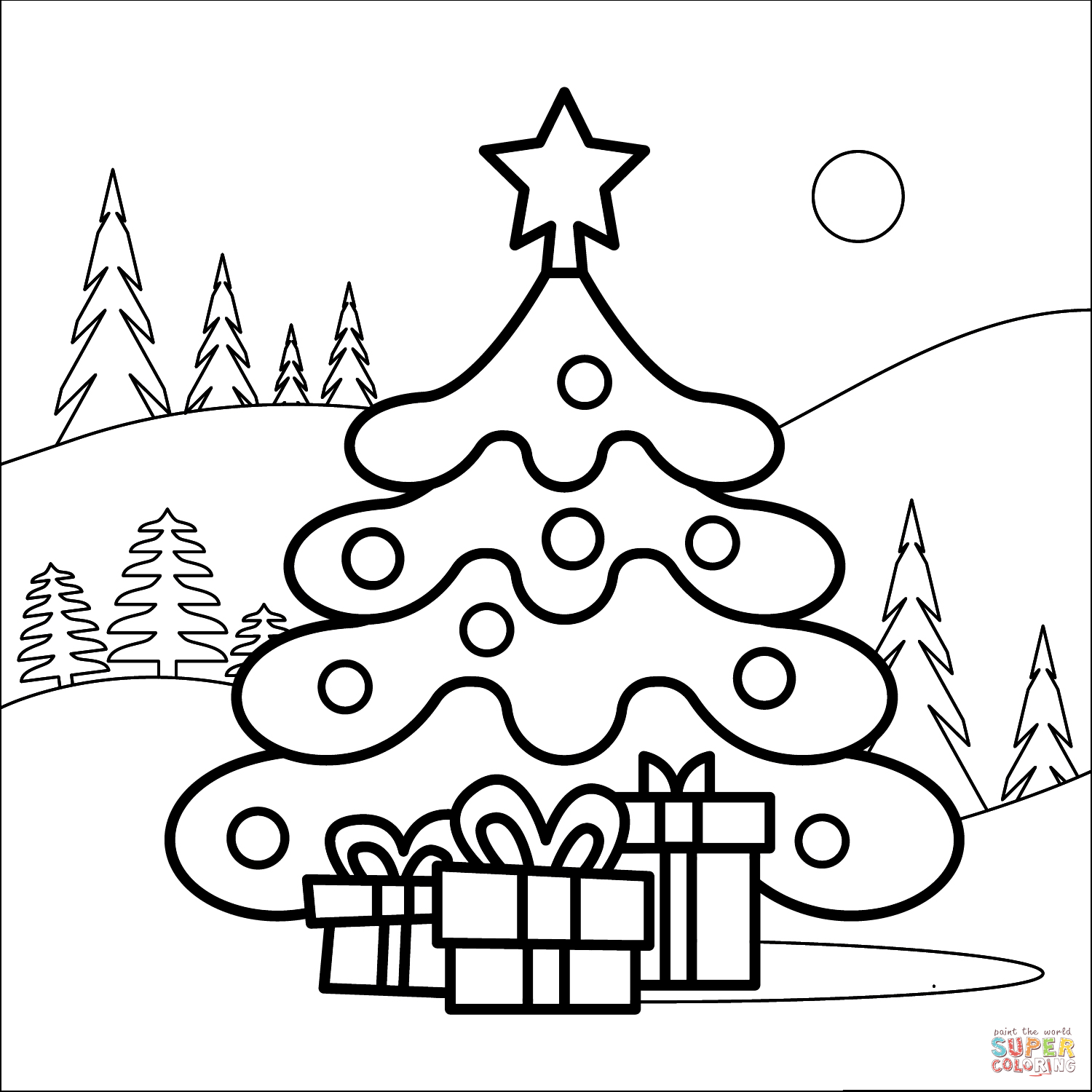 christmas tree coloring pictures tim van de vall comics printables for kids christmas pictures tree coloring