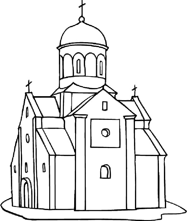 church coloring page 9 church coloring pages from simple to ornate page coloring church