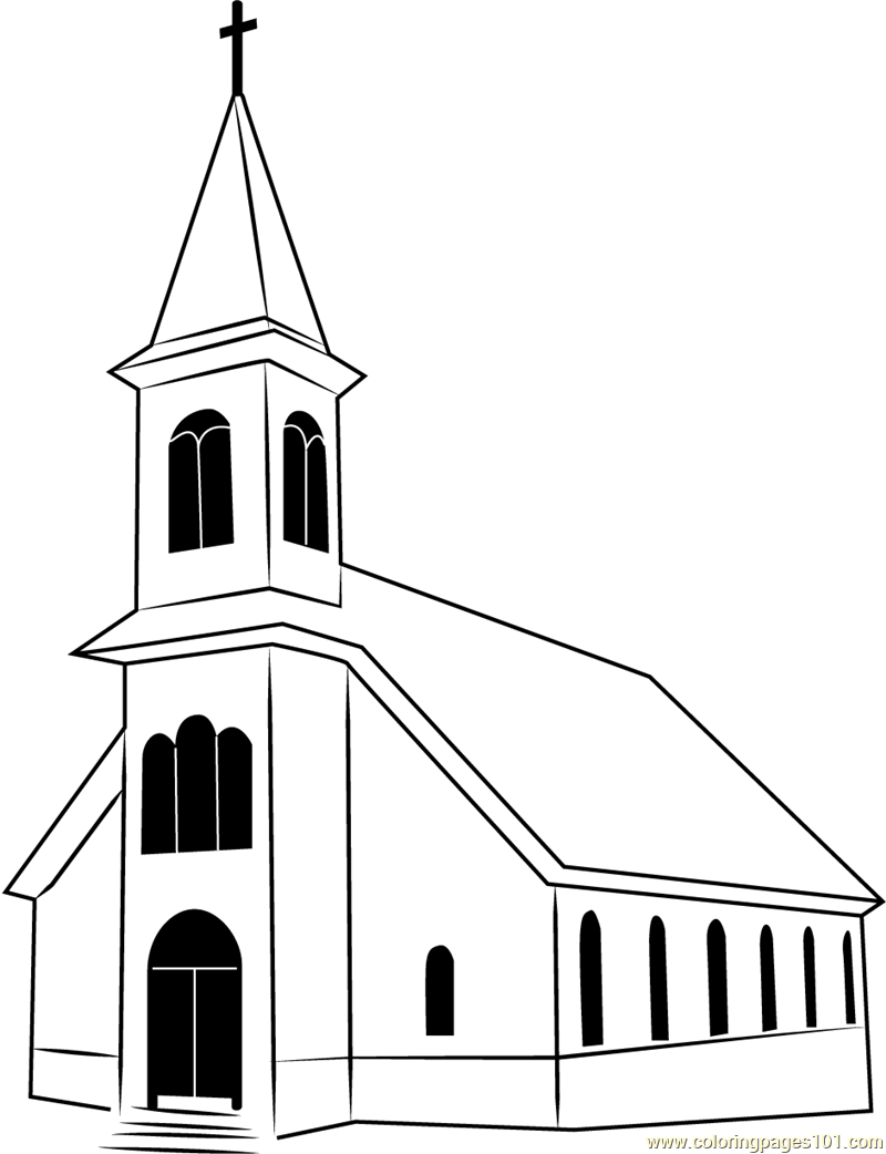 church coloring page church coloring page etsy church page coloring