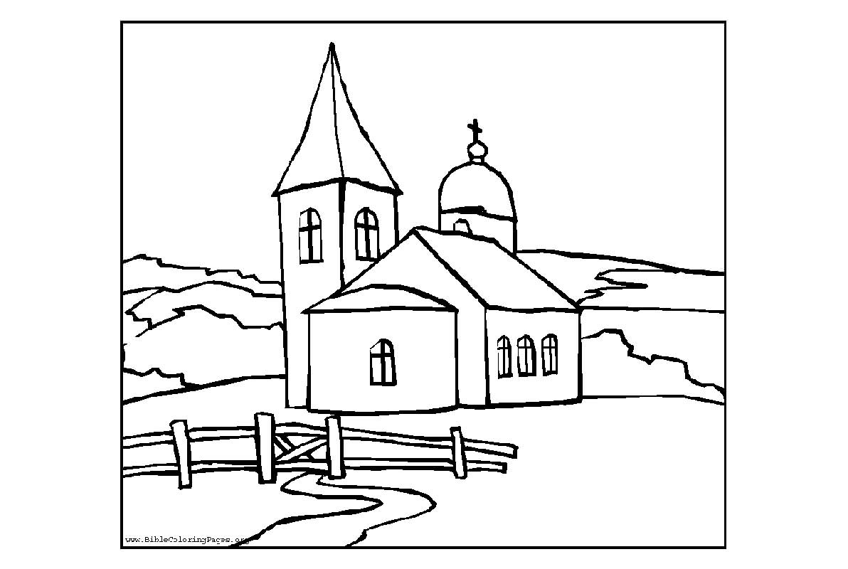 church coloring page church coloring pages for kids best place to color coloring page church