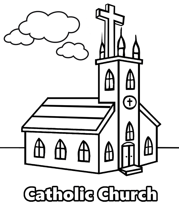 church coloring page church coloring pages to download and print for free church coloring page