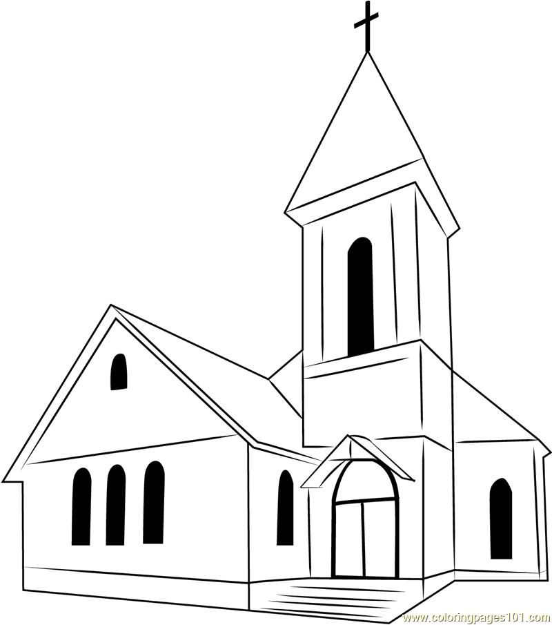 church coloring page church coloring pages to download and print for free coloring church page