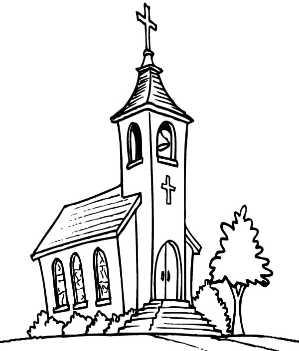 church coloring page church coloring pages to download and print for free coloring page church