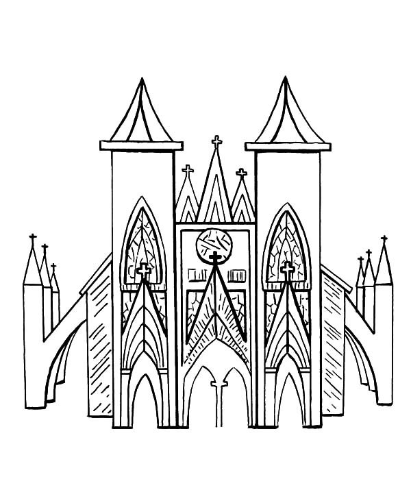 church coloring page coloring to relieve stress and calm a child page church coloring