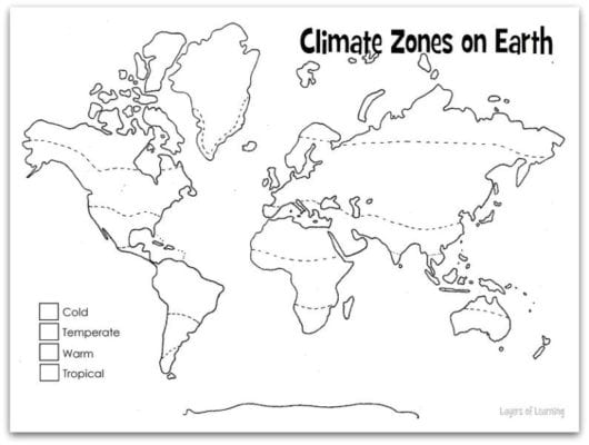 climate zone coloring map climatic zones teaching resources zone climate map coloring