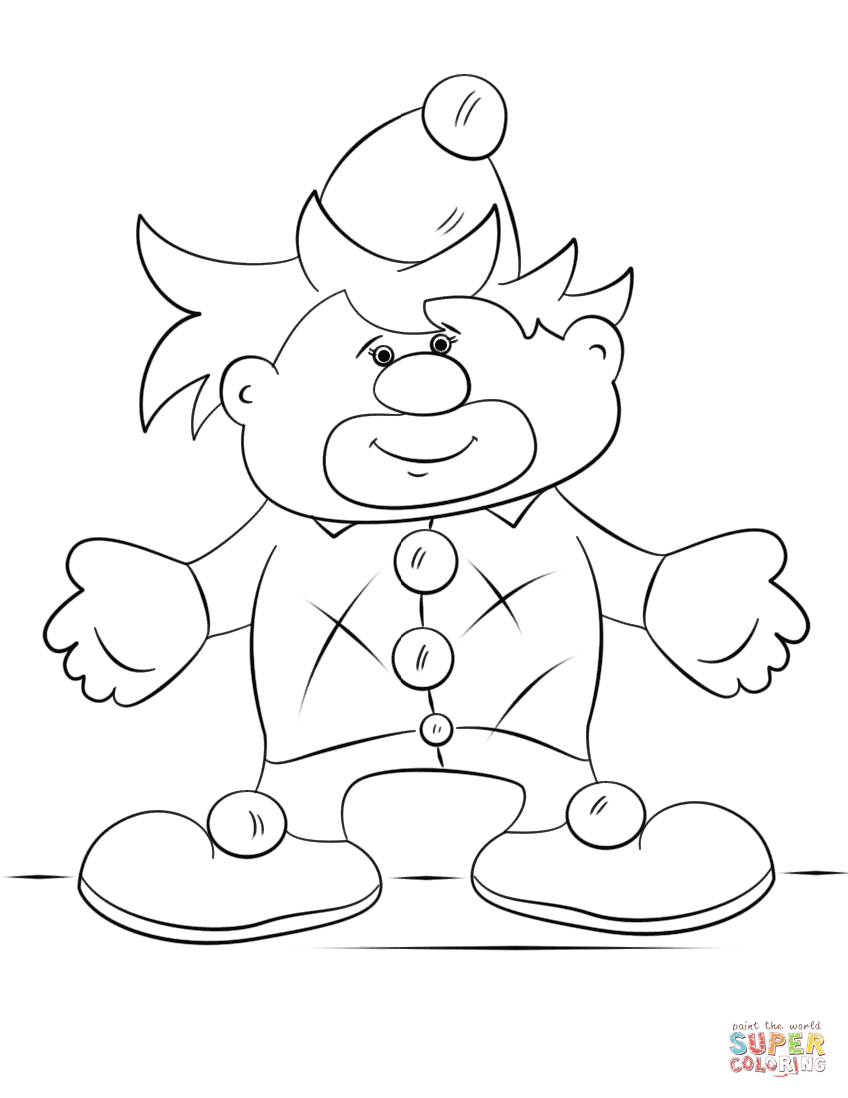clown printable coloring pages cartoon clown coloring page free printable coloring pages coloring printable pages clown
