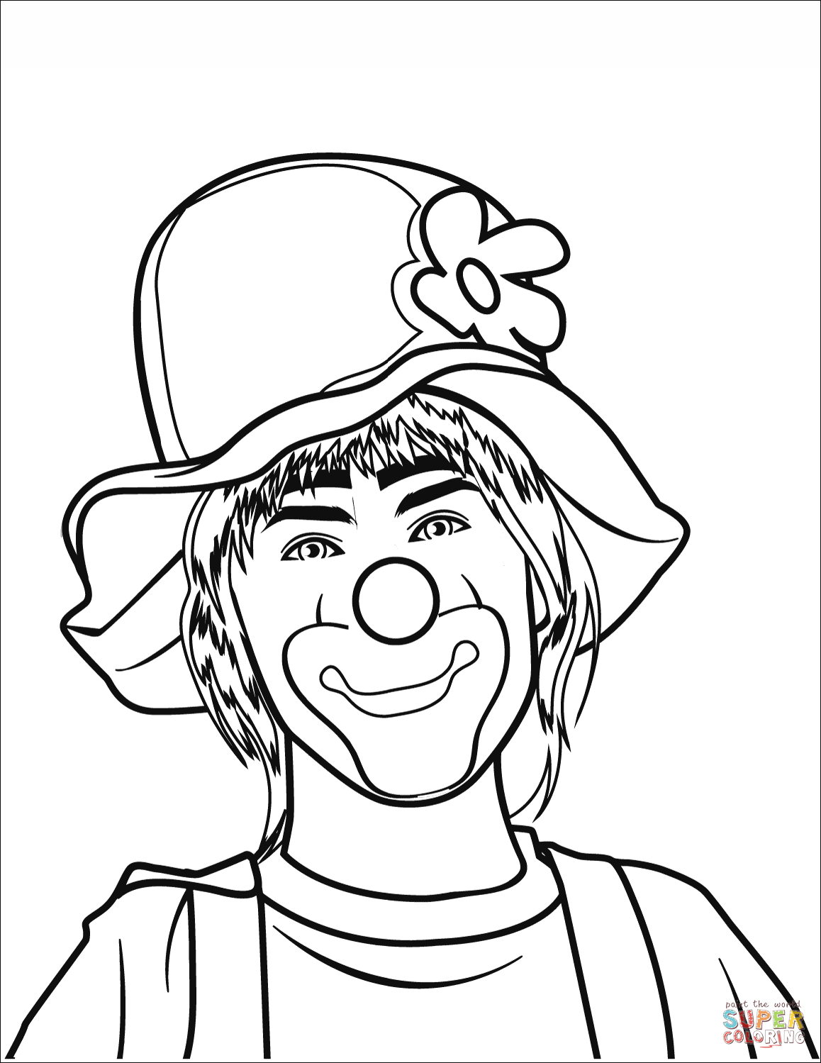 clown printable coloring pages clown coloring page free printable coloring pages pages clown printable coloring