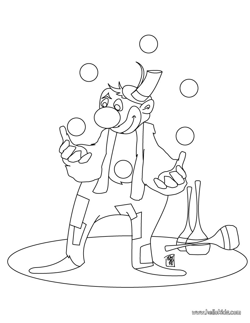 clown printable coloring pages juggling clown coloring pages hellokidscom printable coloring pages clown
