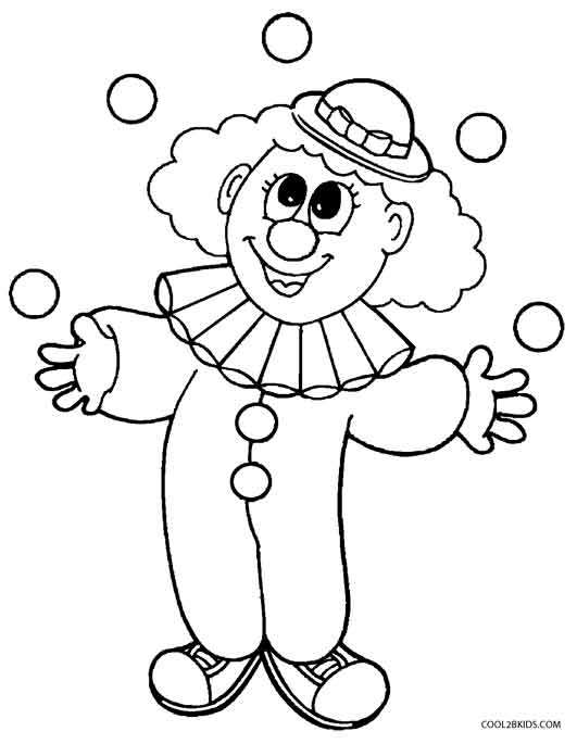 clown printable coloring pages kids drawing page at getdrawings free download coloring clown pages printable