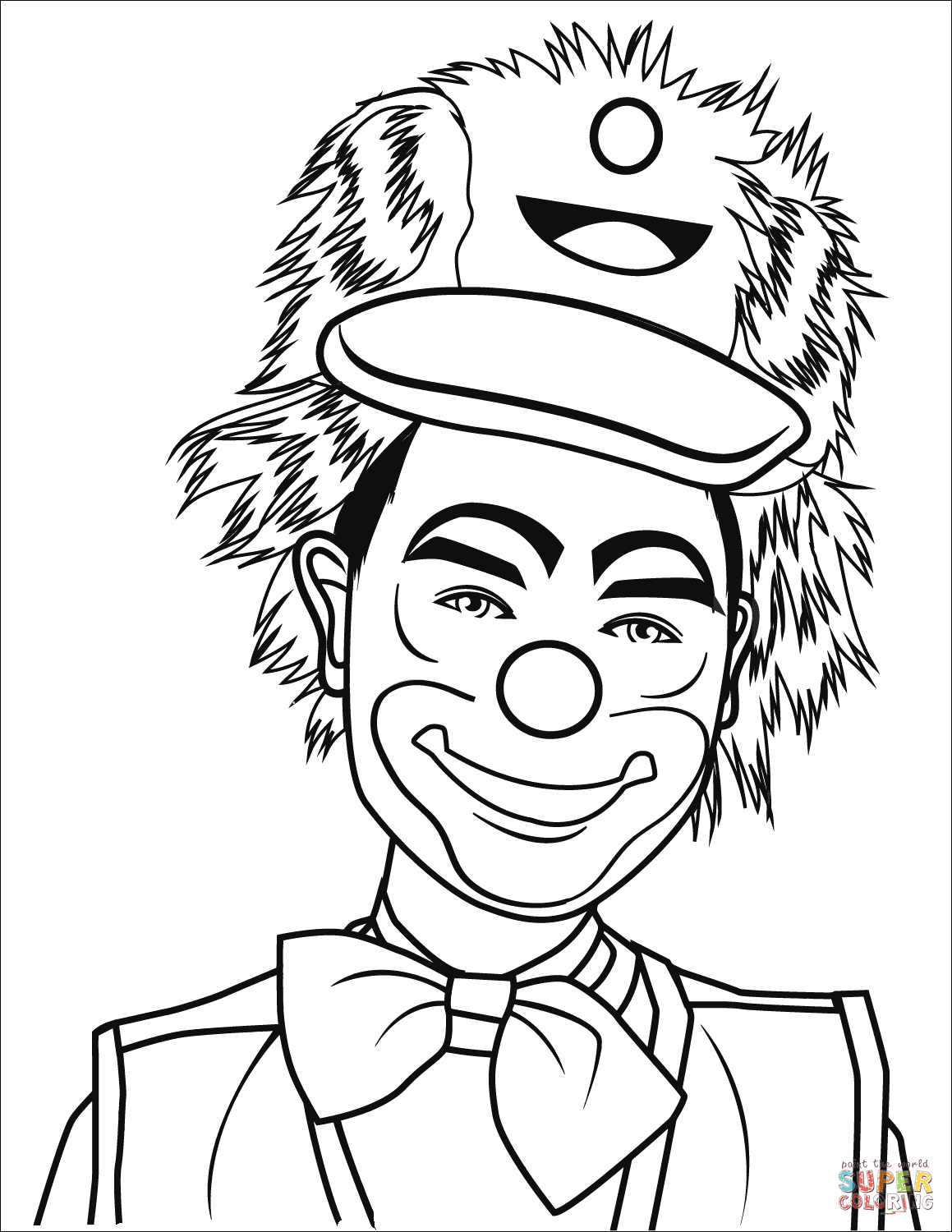 clown printable coloring pages smiling clown coloring page free printable coloring pages coloring pages printable clown