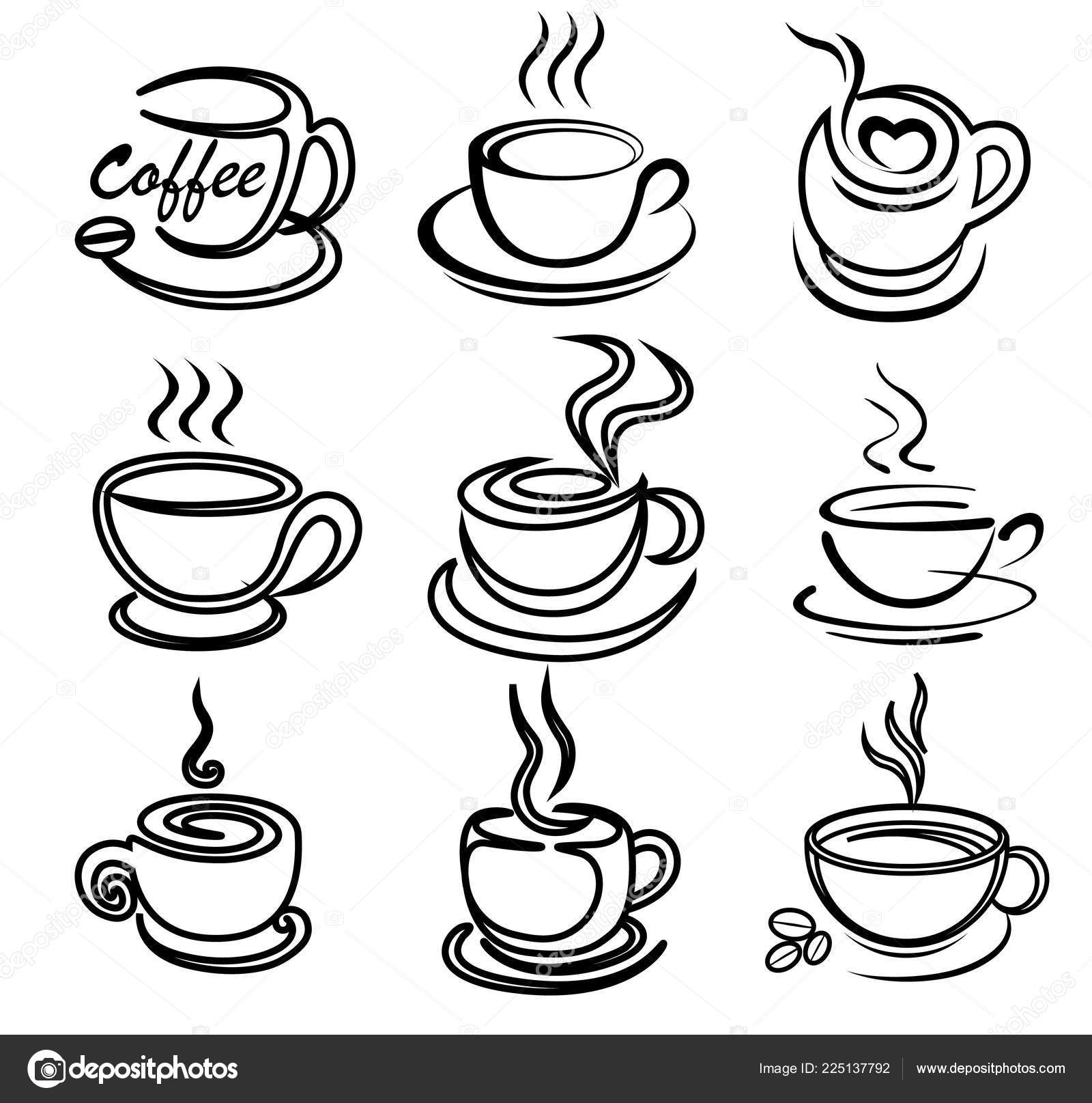 coffee cup drawings coffee cup line drawing at getdrawings free download cup coffee drawings