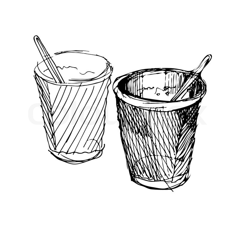 coffee cup drawings coffee tumbler cup ink drawing free transparent png coffee drawings cup