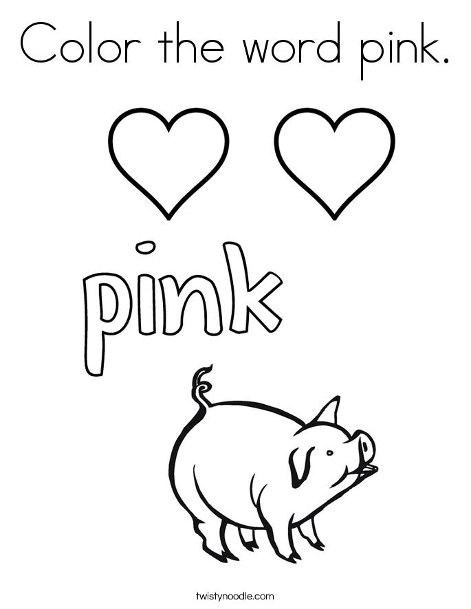 color pink coloring sheet pink activities for kids color pink sheet coloring