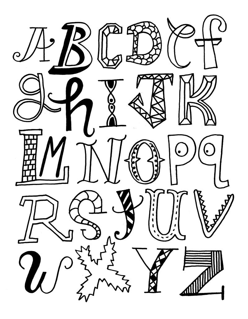 coloring abc draw free printable abc coloring pages for kids draw coloring abc