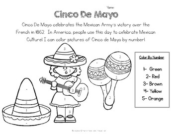 coloring activity for grade 5 cinco de mayo worksheet color by number free by simple coloring 5 activity for grade