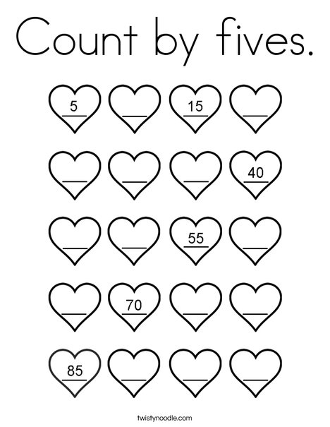coloring activity for grade 5 count by fives coloring page twisty noodle 5 activity for coloring grade