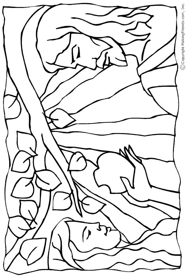 coloring adam and eve story for kids adam and eve colouring page the creation story and adam story and for coloring eve adam kids
