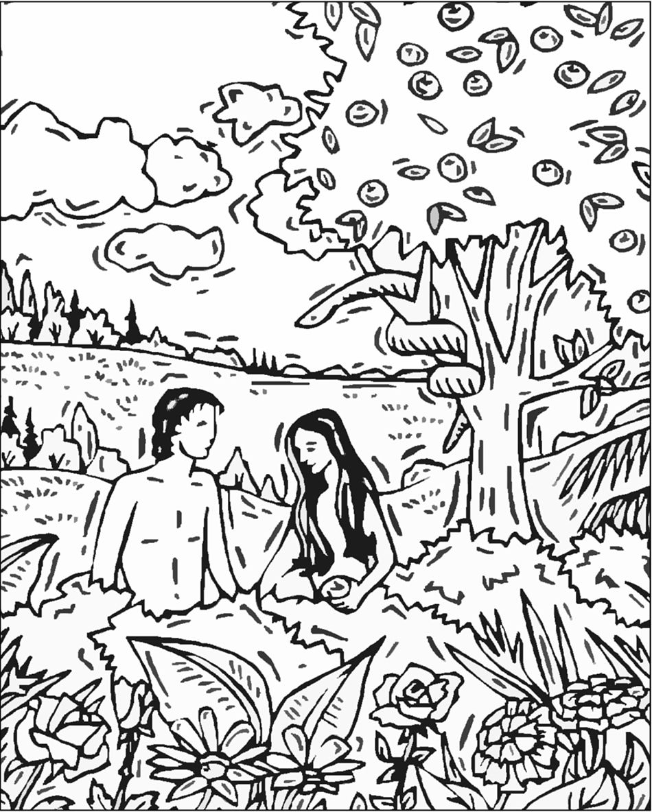 coloring adam and eve story for kids bible stories coloring page getcoloringpagescom kids story eve adam and coloring for