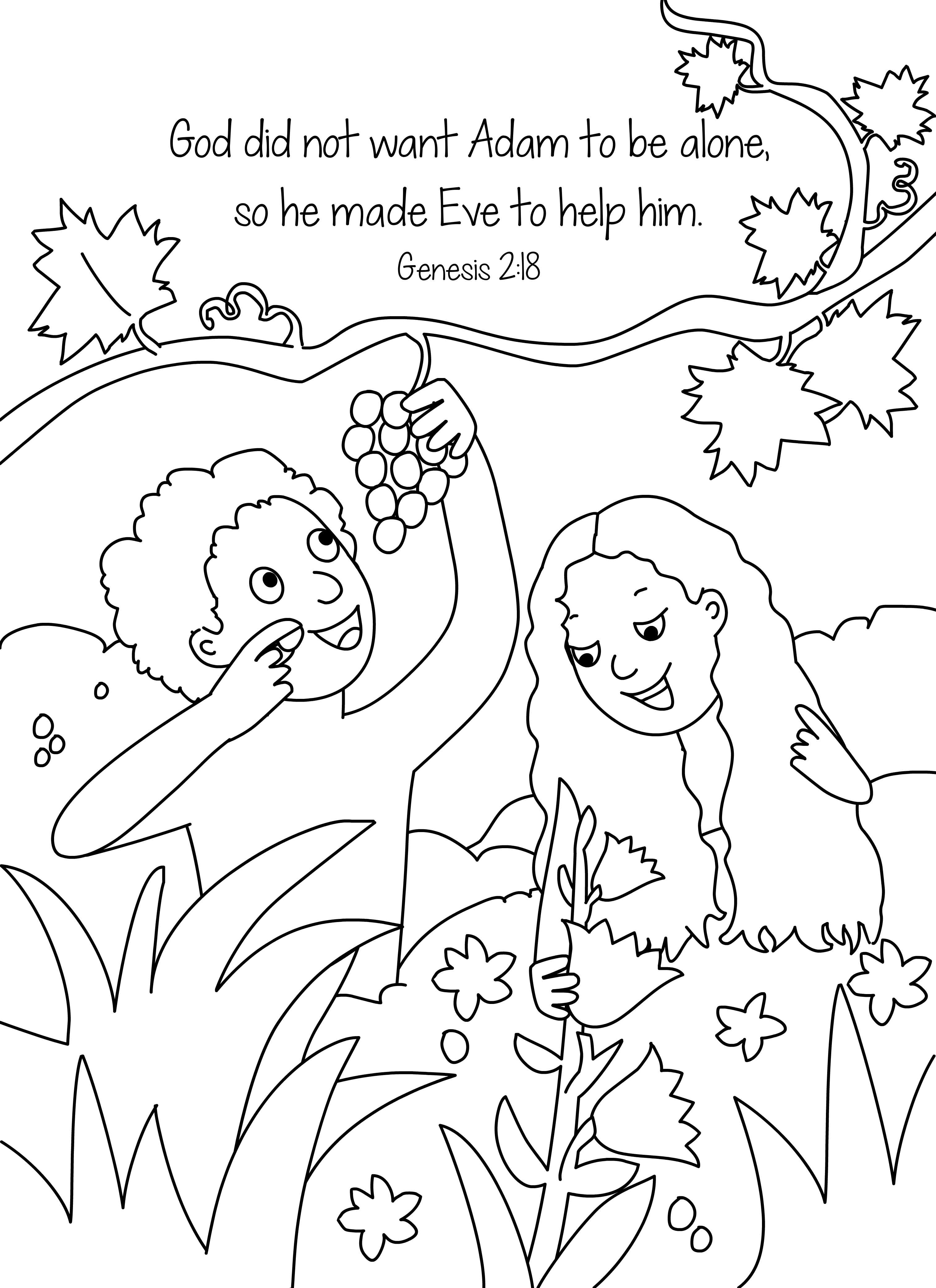 coloring adam and eve story for kids free printable adam and eve coloring pages for kids adam kids eve story coloring and for