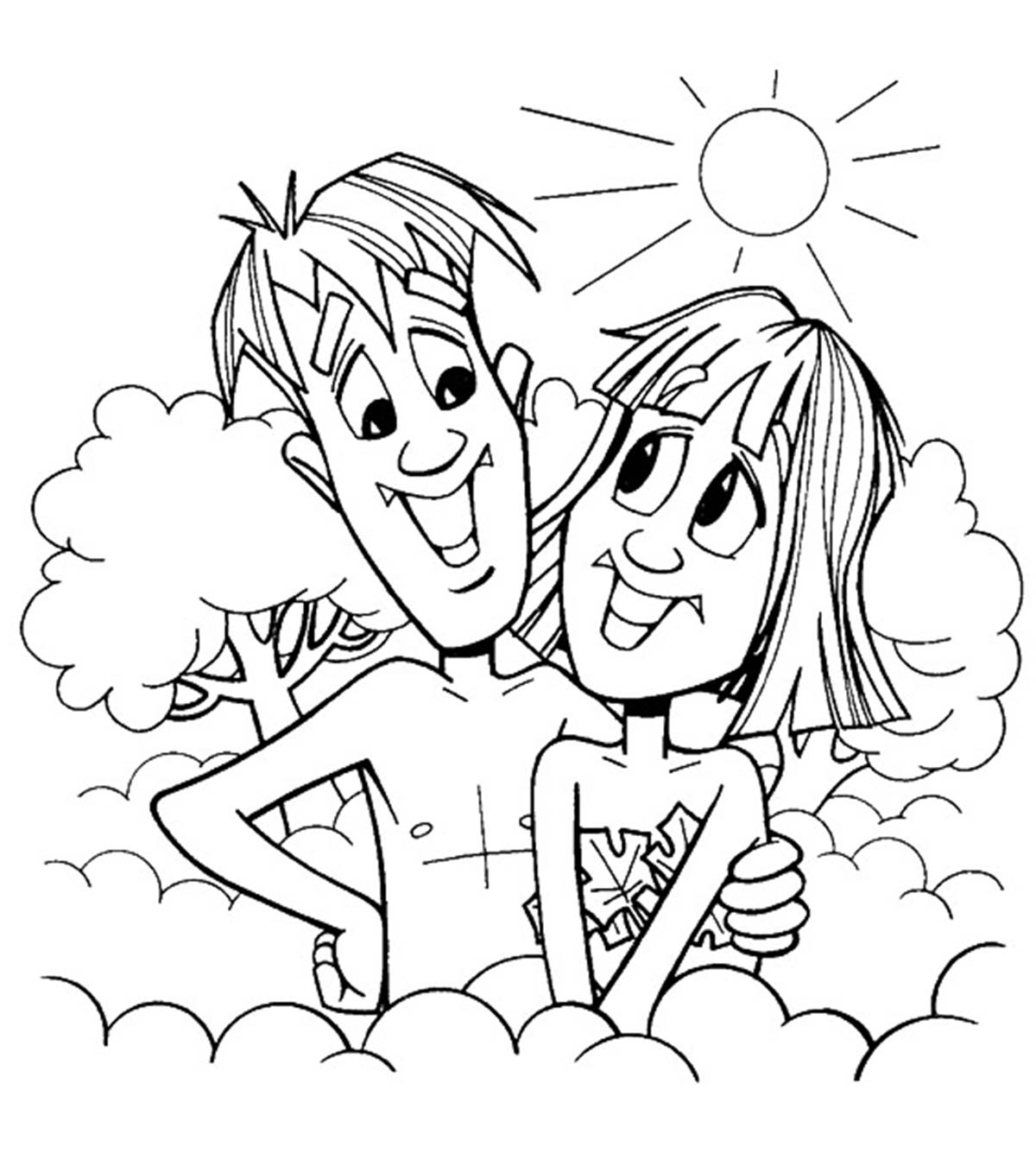 coloring adam and eve story for kids free printable adam and eve coloring pages for kids and story kids coloring eve for adam